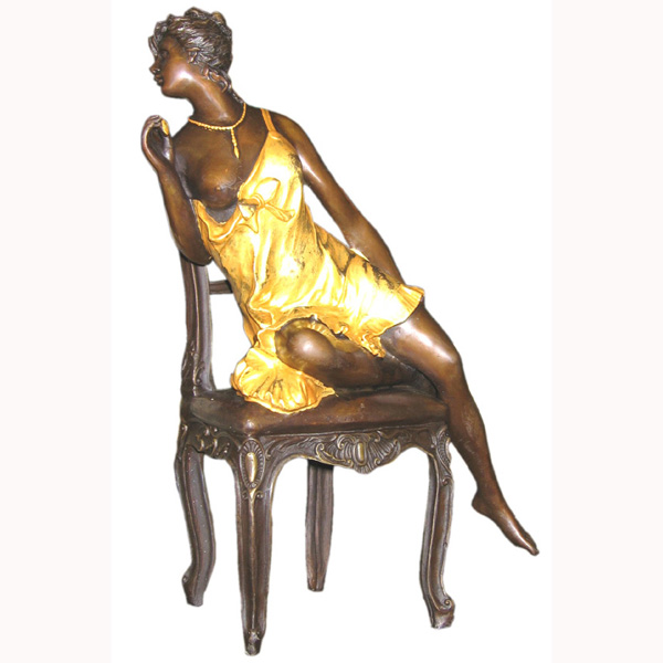Bronze Girl on Chair