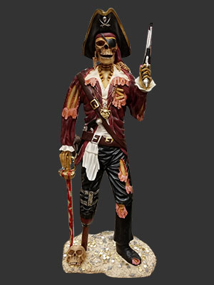Skeleton Pirate Captain with Gun