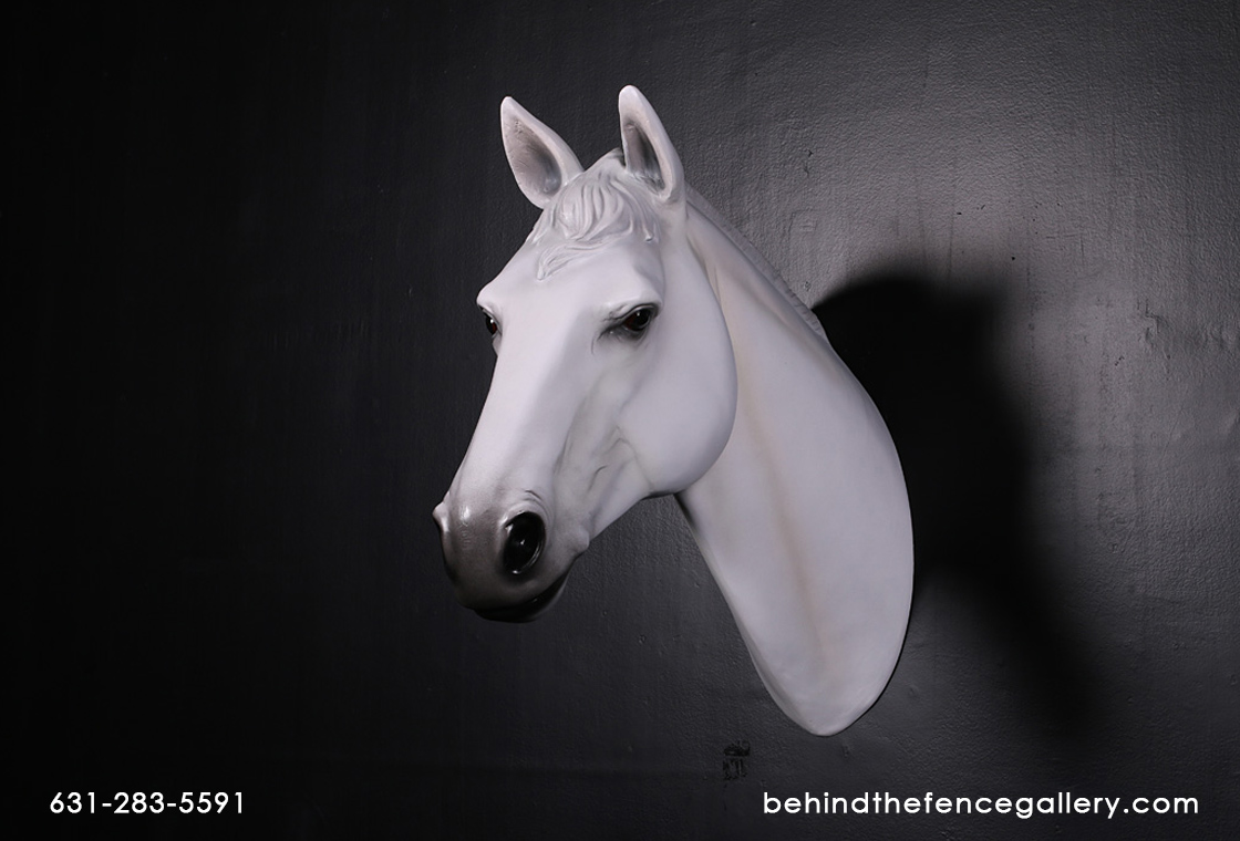 White Horse Head Wall Mount White Horse Head Wall Mount Behind The Fence Statues Gallery Behind The Fence Statues Gallery